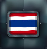 Flag of Thailand on metalic background Stock Photography