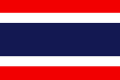 Flag of Thailand. Official symbol of the country Royalty Free Stock Image