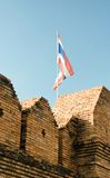 Flag of thailand over wall Royalty Free Stock Photo