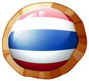Flag of Thailand on round badge Royalty Free Stock Photography