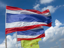 Flag of Thailand and the Royal flag Royalty Free Stock Photos