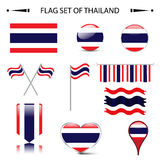 Flag of THAILAND vector set Royalty Free Stock Images