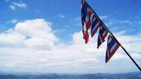 Flag of Thailand View. Mountain scenery Royalty Free Stock Photos