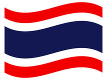 Flag of Thailand. On a white background Royalty Free Stock Photography