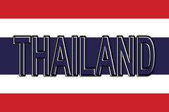 Flag of Thailand Word. Stock Image