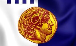 Flag of Thessaloniki, Greece. Royalty Free Stock Image