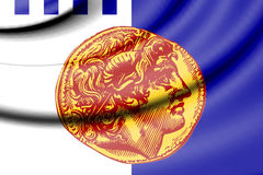 Flag of Thessaloniki, Greece. Royalty Free Stock Images