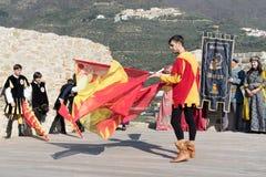 Flag throwing show Royalty Free Stock Photos