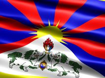 Flag of Tibet Royalty Free Stock Images