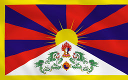 Flag of tibet Stock Photography