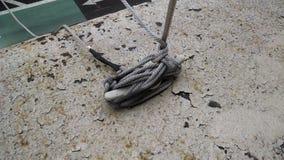 Flag tie down. Flag rope tie knot loop Stock Images