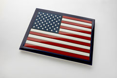 Flag tile. An American Flag wall tile on a white background Royalty Free Stock Images