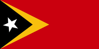 Flag of Timor-Leste Stock Photos