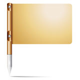 Flag on the tip holder with metallis. Flag attached to the holder with the metal sharp tip Stock Photography