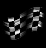 Flag tire marks Royalty Free Stock Photo