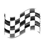 Flag tire marks Stock Images
