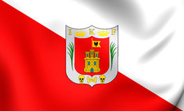 Flag of Tlaxcala, Mexico. Royalty Free Stock Photo