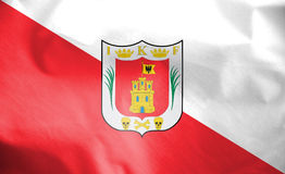 Flag of Tlaxcala, Mexico. Royalty Free Stock Photography