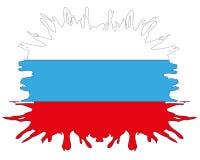 Flag to Russia inkblot Stock Photo