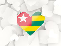 Flag of togo, heart shaped stickers Royalty Free Stock Photos