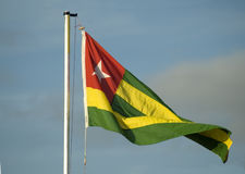 Flag of Togo. Flag of the nation of Togo Stock Image