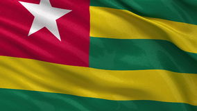 Flag of Togo - seamless loop Stock Photos