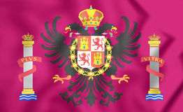 Flag of Toledo Province, Spain. Royalty Free Stock Photos