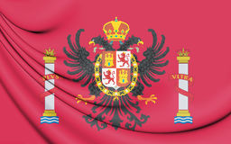 Flag of Toledo Province, Spain. Royalty Free Stock Photography