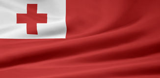 Flag of Tonga Stock Photo