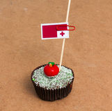 Flag of tonga on a cupcake Stock Photos