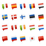 Flag tool tips world. Small tool-tips as world flags to use for travel related graphics Royalty Free Stock Images
