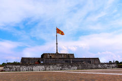 The Flag Tower. Also called the King's Knight, is the focal point of Hue city. It is commonly known as a flagpole, but viewed from the Imperial City, it is Royalty Free Stock Photography