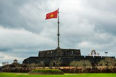 The Flag Tower (Cot Co) in the Citadel of Hue city Stock Photography