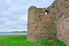 Flag tower in Fortress Oreshek near Shlisselburg, Russia Royalty Free Stock Photography