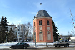 Flag Tower in Hamina royalty free stock photos