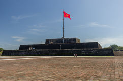 The Flag Tower (Cot Co) in the Citadel of Hue city, Vietnam Unes Stock Photos