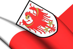 Flag of Trentino-Alto Adige, Italy. 3D Flag of the Trentino-Alto Adige, Italy. Close Up Royalty Free Stock Image