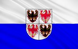 Flag of Trentino-Alto Adige, Italy. Flag of Trentino-Alto Adige Sudtirol is an autonomous region in Northern Italy stock photo