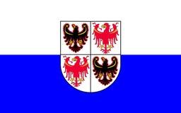 Flag of Trentino-Alto Adige, Italy. Flag of Trentino-Alto Adige Sudtirol is an autonomous region in Northern Italy stock images