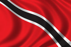 Flag of Trinidad. Waving in the wind Royalty Free Stock Image