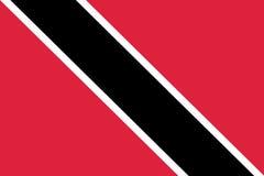 Flag Trinidad flat icon Stock Image