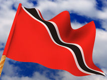 Flag. Trinidad and Tobago Stock Photo