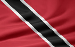 Flag of the Trinidad and Tobago Royalty Free Stock Image