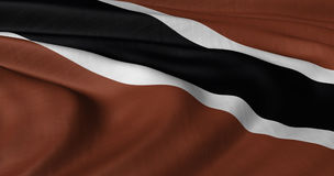 Flag of Trinidad and Tobago. Fluttering in light wind Royalty Free Stock Image