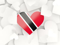 Flag of trinidad and tobago, heart shaped stickers Royalty Free Stock Photo