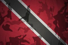 Flag of trinidad and tobago on the khaki texture . military concept Stock Images