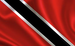 Flag of Trinidad and Tobago. Part of the series. Trinidad and Tobago flag blowing in the wind Royalty Free Stock Images