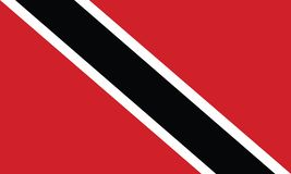 Flag of Trinidad and Tobago vector illustration stock image