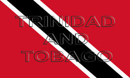 Flag of Trinidad and Tobago Word Stock Photo
