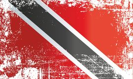 Flag of Trinidad and Tobago. Wrinkled dirty spots. royalty free illustration